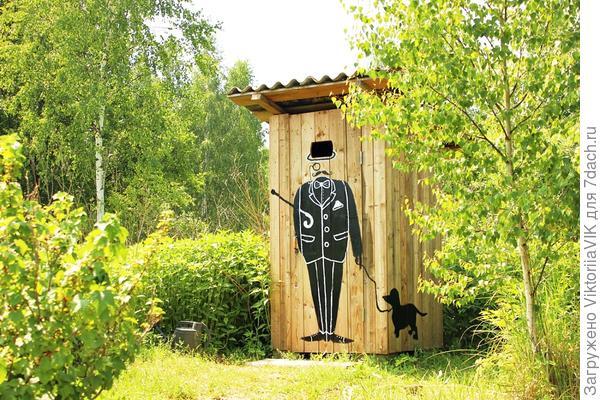 Декор дачного туалета