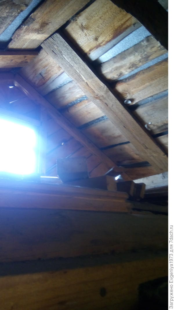 Деревянная часть крыши вроде у нас крепкая