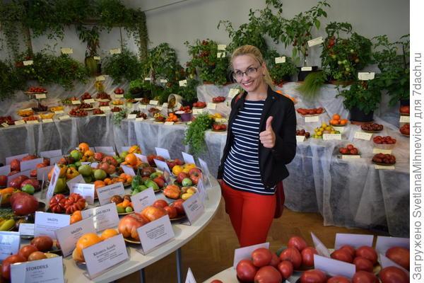 Я надеюсь, вам было так же интересно, как и мне. Я даже представить себе не могла, что такое разнообразие сортов томатов существует. Конечно я купила себе кое что. Но , если честно,  от шока не очень была разумна :)  Упаковка семян на выставке , да и вообще непосредственно у коллекционера стоит 1.50 евро  В пакетике от 10 до 20 семян.