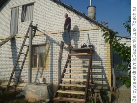 Лестница  на  мансарду.