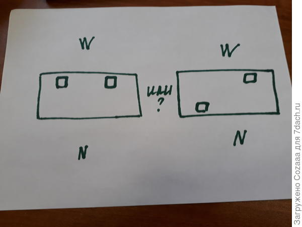 Схема расположения дополнительных форточек. Какой вариант лучше?