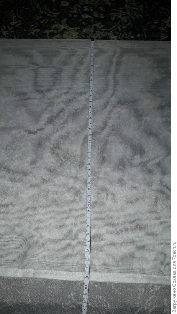 Вымеряем подгиб нужной длины и заглаживаем утюгом по всей длине вуали.