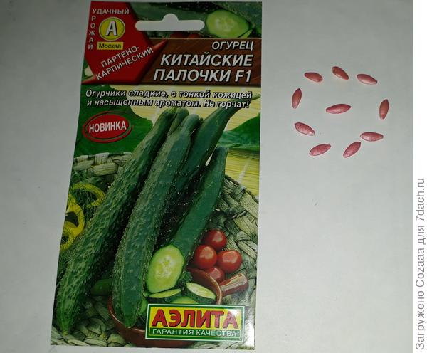 Для тестирования беру 5 семян.