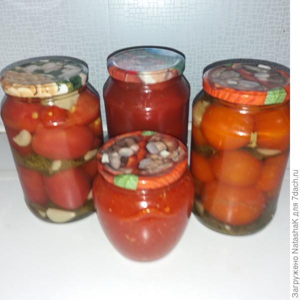 Представители томатных заготовок