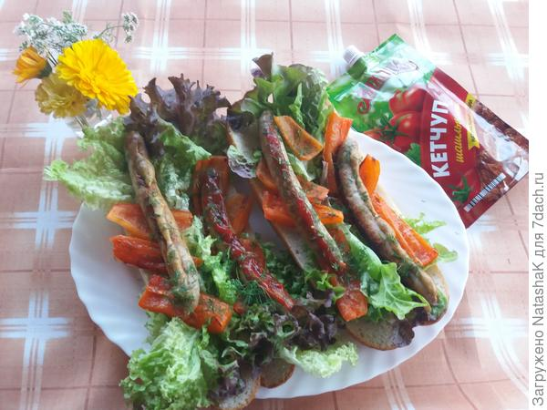 Хот-дог - колбаски из индейки