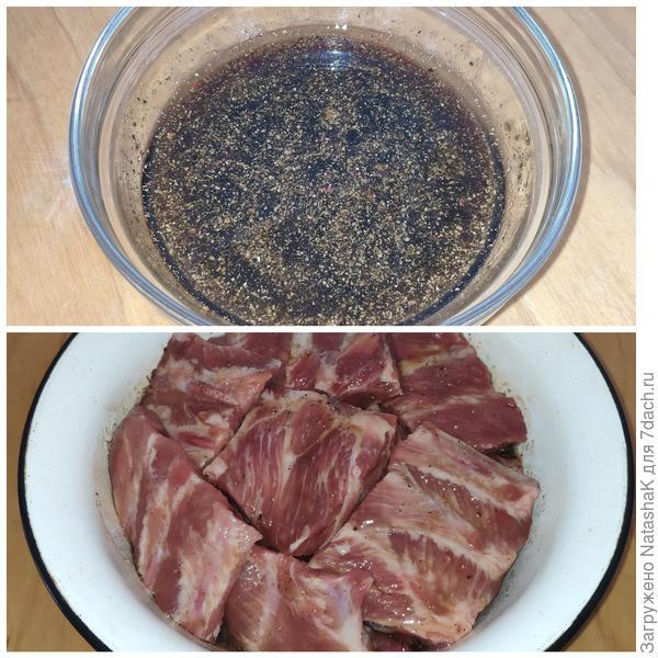 Ребрышки, маринованные в гранатовом соусе. Пошаговый рецепт с фото