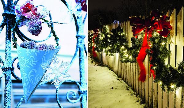 Не скупитесь на праздничную подсветку и убранство фасадов.