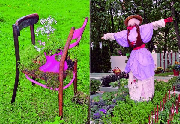 Обращение к модной теме: дизайн костюма для... садового пугала!