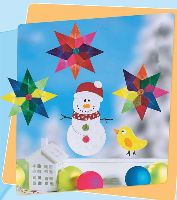 Снеговик и птичка