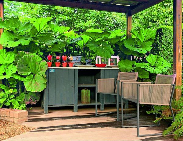 Деревянный настил - еще одна разновидность площадок отдыха
