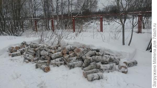 Сначала дрова надо привезти и напилить