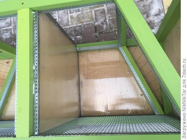 отделка стенок поликарбонатом