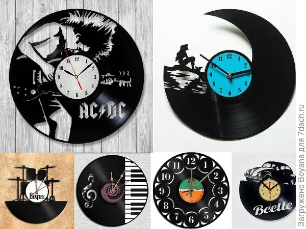 Часы из грампластинок. Фото с сайта https://ru.pinterest.com/