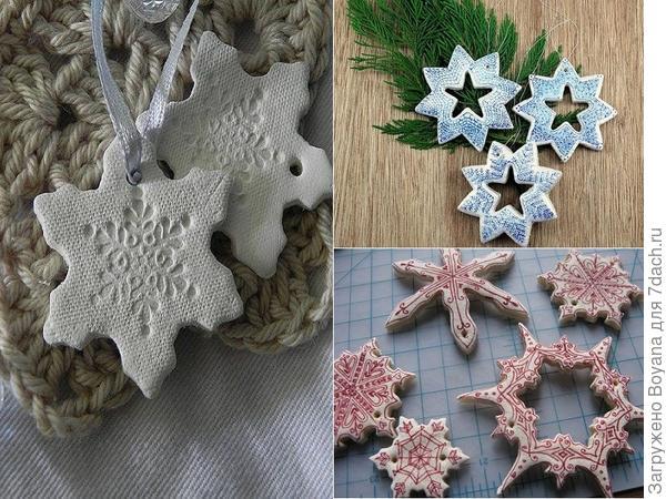 Снежинки из соленого теста. Фото с сайта https://ru.pinterest.com/