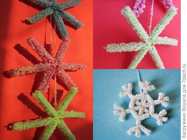 Снежинки из соли. Фото с сайта https://ru.pinterest.com/