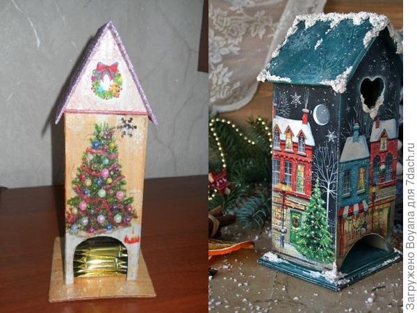 Новогодний чайный домик. Фото с сайта https://ru.pinterest.com/