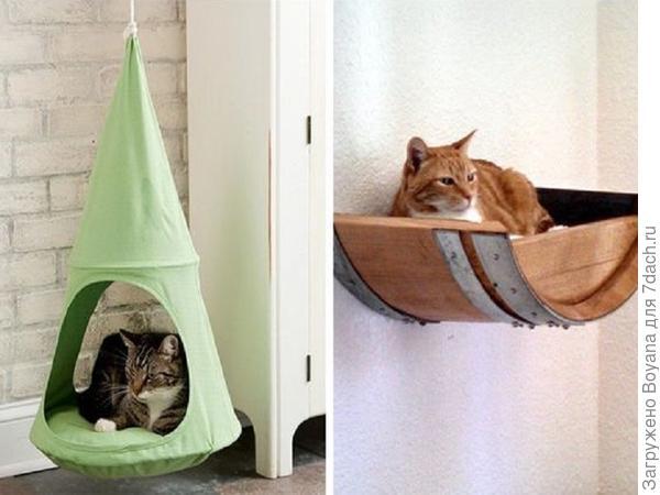 Гамак для кота. Фото с сайта https://ru.pinterest.com/