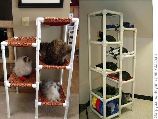Многоярусные кошачьи жилища. Фото с сайта https://ru.pinterest.com/