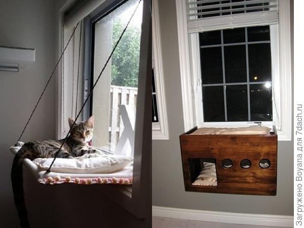 Лежак у окна. Фото с сайта https://ru.pinterest.com/