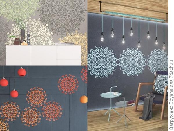 Ажурные узоры на стене. Фото с сайта ru.pinterest.com