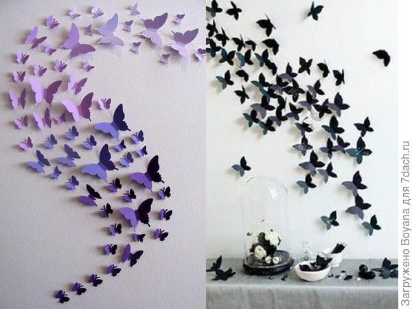 Бумажные бабочки на стене. Фото с сайта ru.pinterest.com