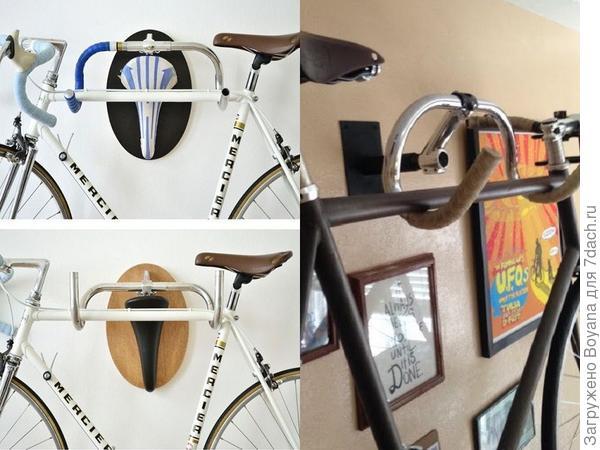 Старый руль - держатель для нового велосипеда. Фото с сайта ru.pinterest.com