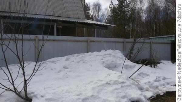 вид слева снег от соседей