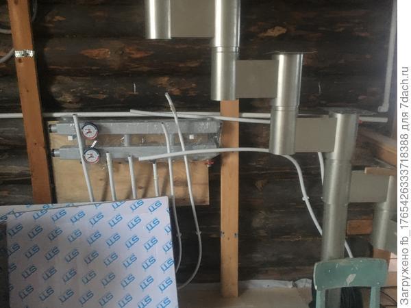 Проводка туб по стенам и установка батарей