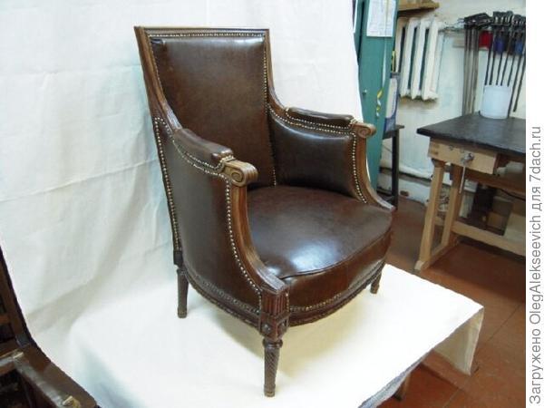 Кресло после реставрации