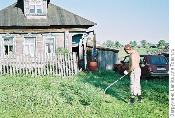 Июль 2007 года, наше первое лето в деревне.