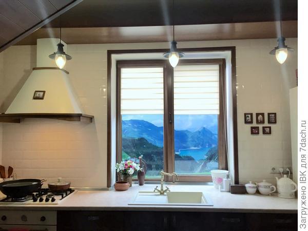 Вот у меня за окном великолепный пейзаж Альпийских гор.