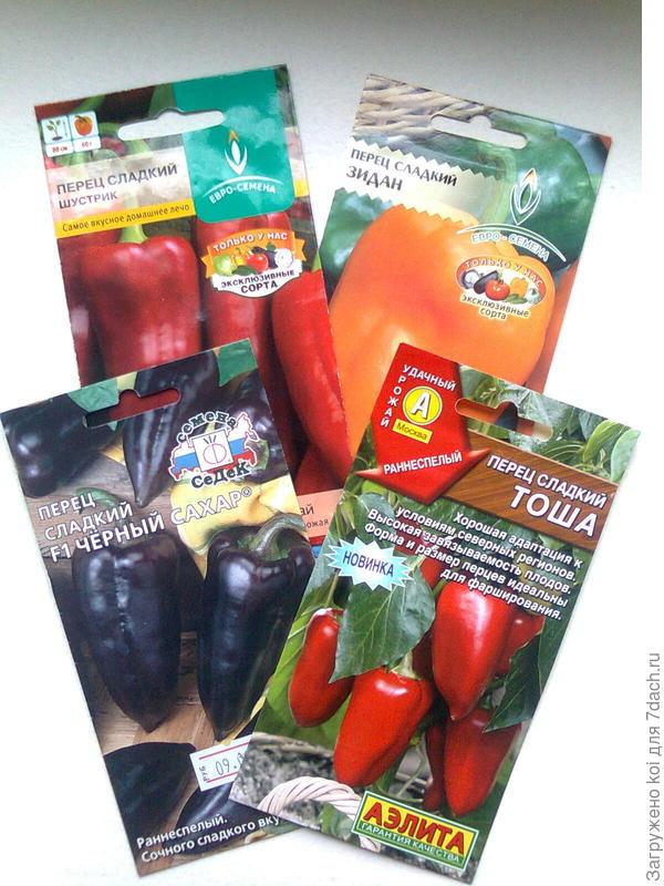 Семена сладких  перцев, отобранных на посев