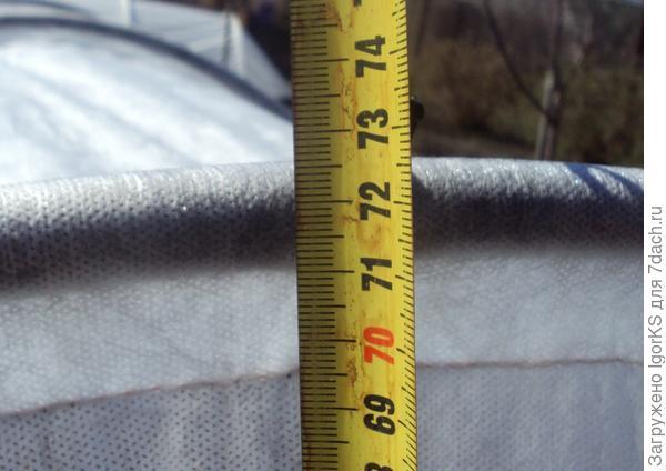 """Установленная высота для """"Подснежника"""". А максимальная - 80 см"""