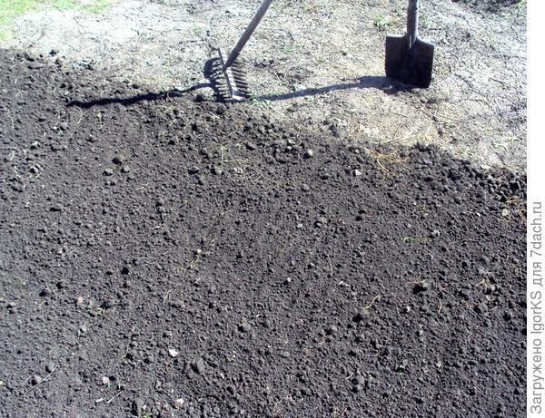 Подготовка земли под посадку