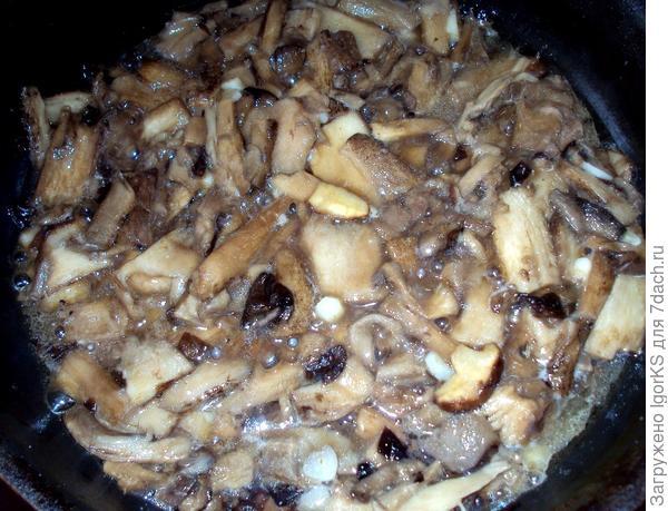 Жарю грибы осеннего сбора: белые и подберезовики (шампиньоны даже не понадобились)