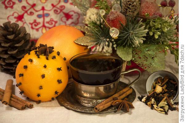 Новогодний чай со специями