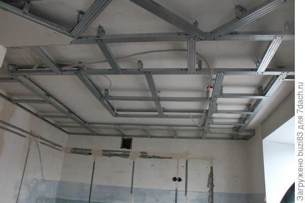 Замена электрики,проводов и изготовление нового навесного потолка