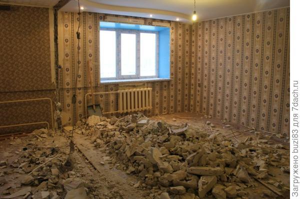 Снесенная стена (после узаконивания перепланировки)