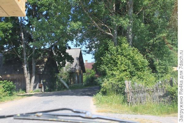Въезд в нашу деревню.