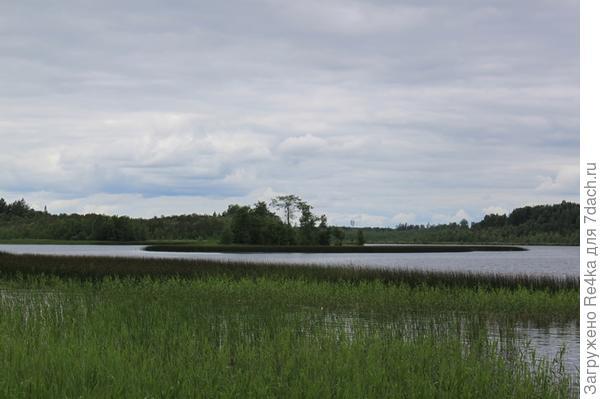 половина озера - наша, другая половина - эстонская....