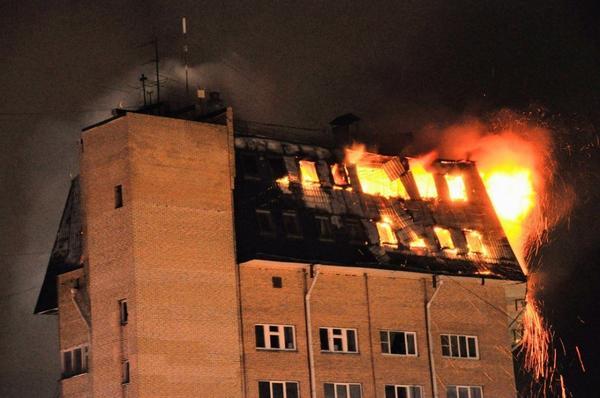 Пожар в Наро-Фоминске. Фотография с сайта www.vladtime.ru