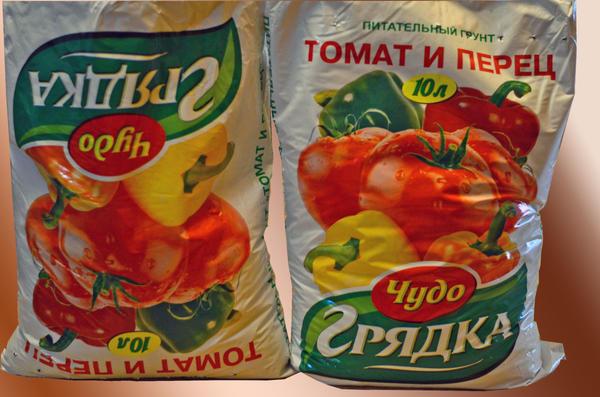 Два пакета питательного грунта для томатов и перцев - 6 кг