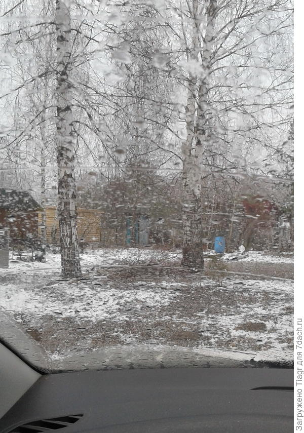 Даже из машины зябко было выходить)))