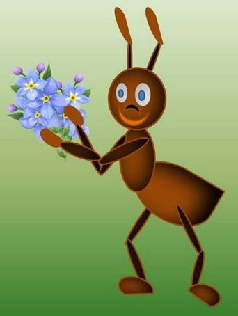 А это тебе букет от муравьишки)))