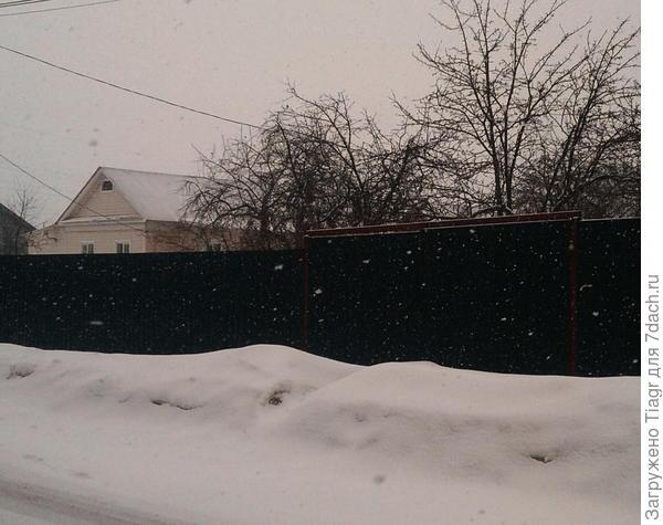 Вчера шёл снег