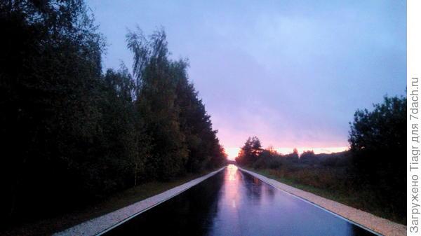 после такой засухи я полюбила мокрый асфальт))) Вчера возвращалась с дачи)))