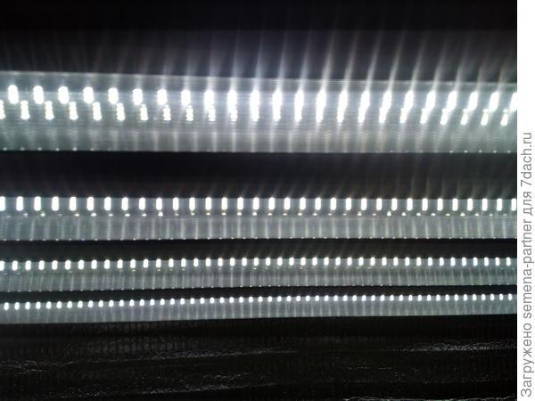 Четыре лампы на одну полку стеллажа