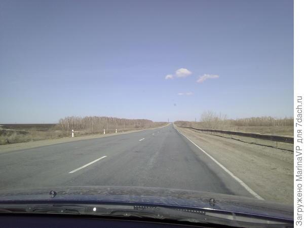 Дорога на дачу, небо  чистое, солнечная погода.Сердце радуется!