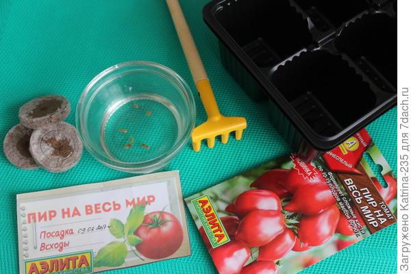 9 семечек томата Пир на весь мир отправлен на проращивание) 7 в грунт,2 в торф таблетки,ждем.