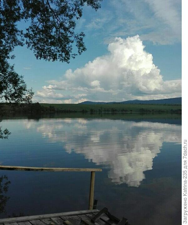 Озеро, пока папа строил-мы дышали этим воздухом